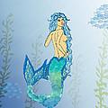 Mermaid Paint The Sea  by Josie Valerio