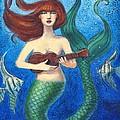 Mermaid Ukulele Angels by Sue Halstenberg