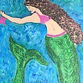 Mermaid With Star Fish  by Christine Chase