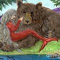 Mermaids Bear Cathy Peek Fantasy Art by Cathy Peek