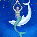 Mermaids- Dolphin Moon Mermaid by Sue Halstenberg