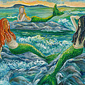 Mermaids On The Rocks by Julie Brugh Riffey