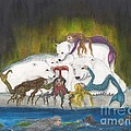Mermaids Polar Bears Cathy Peek Fantasy Art by Cathy Peek