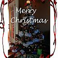 Merry Christmas - Greeting Card - Christmas Tree - Ribbons by Barbara Griffin