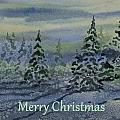 Merry Christmas - Snowy Winter Evening by Cascade Colors