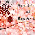 Merry Christmas And Happy New Year by Paula Ayers