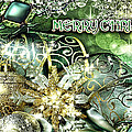 Merry Christmas Green by Mo T