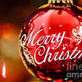 Merry Christmas Ornament by Oscar Gutierrez