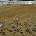 Merry Christmas Sand Art 1 12/25 by Mark Lemmon