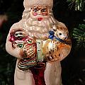 Merry Christmas Santa And Animals by Deb Buchanan