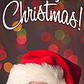 Merry Christmas Santa Card by Sharon Dominick
