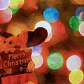 Merry Christmas Sign And Lights by Dan Sproul
