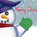 Merry Christmas Snowman by Dawn  Gagnon