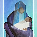 Merry Christmas Virgin Mary And Child  by Taiche Acrylic Art