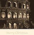 Merry Christmas With Colosseum by Prints of Italy