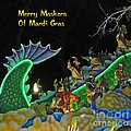 Merry Maskers Of Mardi Gras by Marian Bell