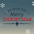 Merry Xmas Greeting Card by Florian Rodarte