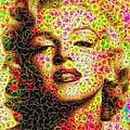 Marilyn - Colored Diamonds by Samuel Majcen