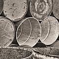 Metal Barrels 2bw by Rudy Umans