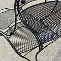 Metal Chair And Shadow 2 by Anita Burgermeister