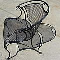 Metal Chair And Shadow 4 by Anita Burgermeister