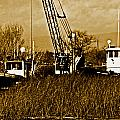 Metal Cranes On The Delta by Joseph Coulombe