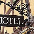 Metal Hotel Sign by Sophie McAulay