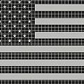 Metal Mesh Usa Flag by David G Paul
