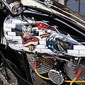 Metal - Motorcycle - The Wall by Susan Carella