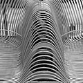 Metal Strips In Black And White by Rob Hans