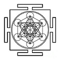 Metatron's Cube - Black by Galactic  Mantra