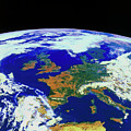 Meteosat Image Of Europe by Esa/kevin A Horgan/science Photo Library