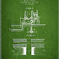 Method Of Drilling Wells Patent From 1906 - Green by Aged Pixel