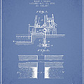 Method Of Drilling Wells Patent From 1906 - Light Blue by Aged Pixel