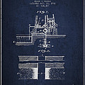 Method Of Drilling Wells Patent From 1906 - Navy Blue by Aged Pixel
