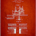Method Of Drilling Wells Patent From 1906 - Red by Aged Pixel