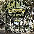 Metropolitain Entrance Paris by Jennifer Ann Henry