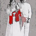 Mexican Revolutionary  Couple In Photo Studio No Location  C.1914-2014 by David Lee Guss