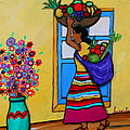 Mexican Street Vendor by Pristine Cartera Turkus