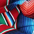 Mexican Textiles Playa Del Carmen Mexico by Lee Vanderwalker