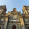 Mexico City Cathedral Facade by Jess Kraft