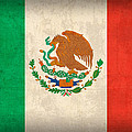 Mexico Flag Vintage Distressed Finish by Design Turnpike
