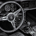 Mg Midget Interior Bw by Jerry Fornarotto