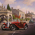Mg Tc Sports Car by Mike Jeffries