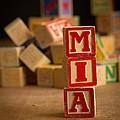 Mia - Alphabet Blocks by Edward Fielding