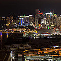 Miami After Dark II Skyline  by Rene Triay Photography