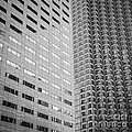 Miami Architecture Detail 2 - Black And White - Square Crop by Ian Monk