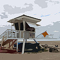 Miami Beach Lifeguard Station II Abstract by Christiane Schulze Art And Photography