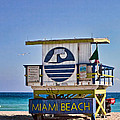 Miami Beach Lifeguard Station by Les Palenik