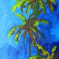 Miami Beach Palm Trees In A Blue Sky by Patricia Awapara
